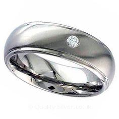 Geti Diamond Set Titanium Ring
