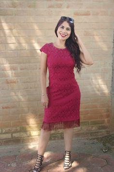 Estilo Modas e Manias: Look do dia Vestido com Franjas Monia Modas