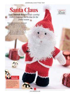 Knitting pattern designs by Amanda Berry for Let's Knit magazine Knitting Bear, Knitting Paterns, Christmas Knitting Patterns, Knitting Toys, Free Knitting, Knitting Projects, Christmas Feeling, Christmas Makes, Christmas Toys