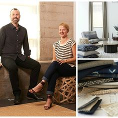- Meet the great minds behind and Together, they create inspired design that is welcoming and sophisticated. So lucky to work with them for an exclusive line and great projects showcasing their fa Smith And Noble, Design Firms, Design Inspiration, Interiors, Designers, David, Meet, Sunset, Collection