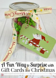 Giving gift cards can be fun with surprise gift cards Christmas gifts that are quick and easy to make. Jazz up gift card gift giving with this fun idea. Teacher Christmas Gifts, Christmas Gifts For Friends, Christmas Stocking Stuffers, Christmas Gift Guide, Holiday Gifts, Christmas Diy, Christmas Cards, Merry Christmas, Homemade Gifts
