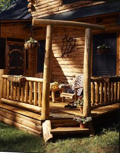 Beyond adorable!    Google Image Result for http://www.loghome.com/wp-content/uploads/2008/03/2-cabin-porch-entry.jpg
