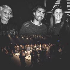 Backstage at Mercedes-Benz Fashion Week Berlin: Designers Aidin Sanati (middle) and Moa Wikman (right) of UBI SUNT, Sweden. Photography: Lars Brandt Stisen #MBFWB #MBFW