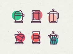 Coffee Icons by Julius Koroll - Dribbble