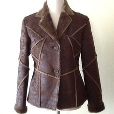 Fabulous Brown Faux Suede Fur Jacket size M 🎀 Absolutely Fabulous Faux Suede Fur Jacket, it is so Soft and Wonderful. In excellent condition in size Medium by Aziza. 🎀 High Quality Jacket 🎀 Aziza Jackets & Coats Blazers