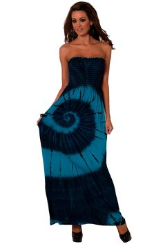 Sexy Colorful Printed Maxi Strapless Long Summer Dress