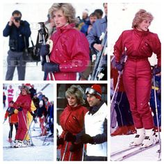 24 JANUARY 1985 PRINCE CHARLES & PRINCESS DIANA ON A SKI HOLIDAY IN Malbun Liechtenstein