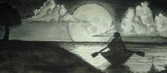 """Moon"" by Harinarayan Sreenivasan [Watercolor on Paper]"