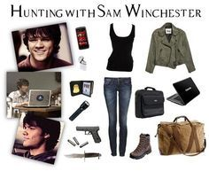 Hi people! As a Supernatural big fans we needed to make an outfit with the Winchester bros, so here's one with Sam Winchester as an . Supernatural Inspired Outfits, Supernatural Fashion, Supernatural Cosplay, Supernatural Clothes, Supernatural Imagines, Character Halloween Costumes, Halloween Costumes For Teens, Sam Winchester Outfit, Winchester Boys