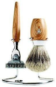 Olivewood shaving set...