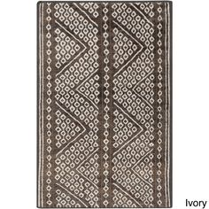 Hand-Knotted Nature Indoor Rug (2' x 3') (Ivory-(2' x 3')), Ivory, Size 2' x 3' (Jute, Color Block)