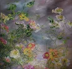 Oil painting by Claire Basler - poppies Art Floral, Motif Floral, Claire Basler, Portraits Pastel, Cicely Mary Barker, Illustration Art, Illustrations, Paintings I Love, Floral Paintings