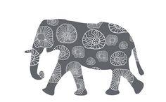 Kids Decor Grey Elephant Wall Decal Large Elephant by Popitay, $47.00