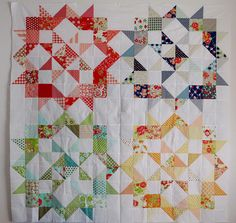 Bonnie and Camille Aussie Charmalong quilt top | Flickr - Photo Sharing!
