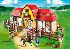 Large Horse Farm with Paddock - PM - Sweden PLAYMOBIL® Northern Europe