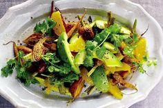 Find the recipe for Carrot, Avocado, and Orange Salad and other avocado recipes at Epicurious.com