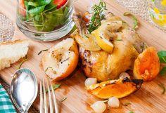 Pollo asado con cítricos y manzana. RECETA FÁCIL - La Cocina de Frabisa La Cocina de Frabisa