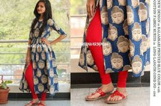 Just 1000 Kalamkari Kurta, Kalamkari Dresses, Ikat Dresses, Long Dresses, Dress Indian Style, Indian Dresses, Indian Outfits, Kalamkari Designs, Churidar Designs