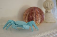 Shabby Little Crabby - Cast Iron Crab - PICK YOUR COLOR. $17.00, via Etsy.