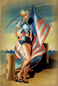 U.S Navy Pin Up Girl