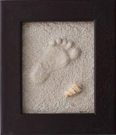 how to make foot prints in the sand and keep it. this is too awesome!!