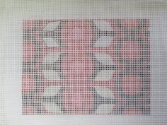 Tracing over a design is a good way to transfer it to needlepoint canvas.