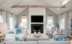 The Defining A Style Series: What Is Modern Coastal Design? The Defining a Style Series: What is Modern Coastal Design? Modern Coastal Decor, House Design, House Decor Modern, Beach House Living Room, Beachy Living Room, Beach Living Room, Cottage Living Rooms, Cottage Living, Coastal Interiors Design