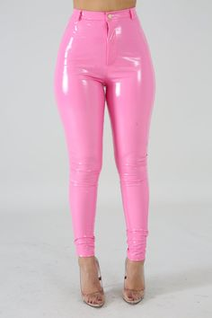 Description This pants feature a non-stretch fabric, button and zipper closure. Model is wearing a small Hand wash cold water Do not bleach MODEL STATS Height: / / True Fit Non-stretch So Measure Twice Pink Outfits, Edgy Outfits, Mode Outfits, Buckle Outfits, Pink Fashion, Fashion Pants, Fashion Outfits, Latex Fashion, Gothic Fashion