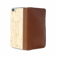 LastuCase for iPhone 6 Brown Leather with Curly Birch