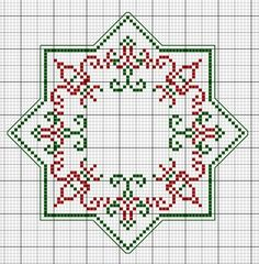 Christmas Biscornu Stack • 5/5 Chart for 1st Size [73st x 73st]