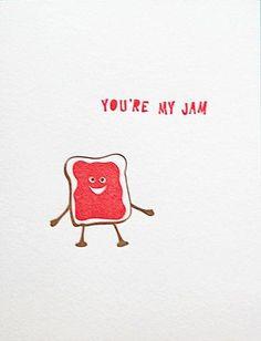 You're My Jam, letterpress card on Shop Pars Caeli