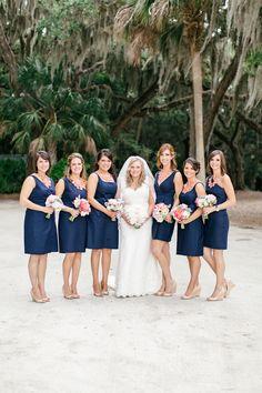 navy bridesmaid dresses | Brooke Images #wedding