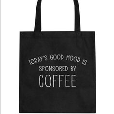 Canvas tote Black canvas tote bag Boutique Bags Totes