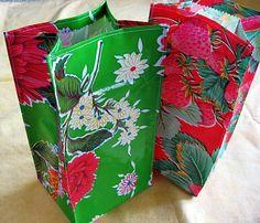 oilcloth lunch bags. so cute!  http://www.marthastewart.com/274587/martha-stewarts-encyclopedia-of-sewing-a#/166366
