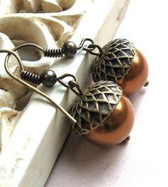 Brass+Acorn+Earrings+by+Botanical+Bird+on+Scoutmob+Shoppe