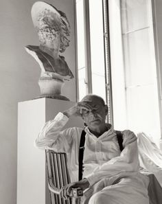 Cy Twombly by Bruce Weber for Vogue US, 1994