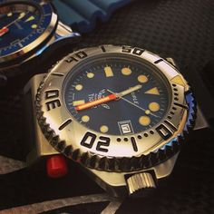 Sold today our very last NOS 70's blue dial #Squale Tiger #diving #watch love these original vintage dials. #diverswatch #ploprof #vintagediver #wornandwound #pageandcooper