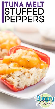 Give the diner classic a healthy spin! Inspired by tuna melt sandwiches, this stuffed pepper recipe will save you carbs… Tuna Melt Stuffed Peppers - Tuna Melt Stuffed Peppers + More Healthy Stuffed Pepper Recipes Ww Recipes, Seafood Recipes, Healthy Recipes, Blender Recipes, Jelly Recipes, Healthy Fruits, Canning Recipes, Healthy Smoothies, Lunch Recipes