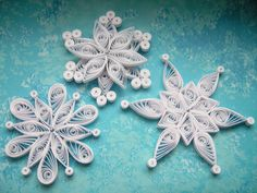 Decorazione di Natale ornamenti di carta quilled di OrnamentHouse