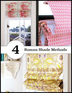 4 different ways to make roman shades
