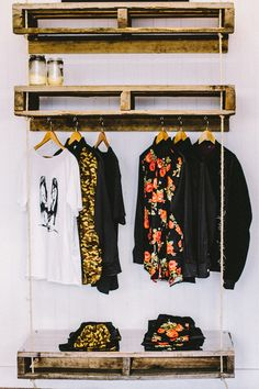 Clothing rack great simple idea