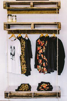 Clothing rack  great simple idea