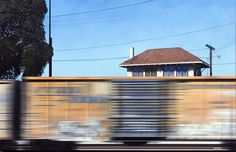 Another painting by Adam Normandin. The captured motion of the train is so real. Seems so simple but I've never seen anything like this in paint!