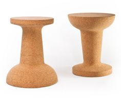 Pushpin Cork Chair or side Table by Kenyon Yeh for COOIMA.