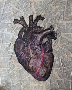 Items similar to Anatomical heart original acrylic painting multi media Canvas, antique anatomy heart, Vintage dictionary page geekery, science nerd on Etsy Anatomy Drawing, Anatomy Art, Heart Anatomy, Heart Illustration, Heart Painting, Anatomical Heart, Human Heart, Mixed Media Canvas, Heart Art