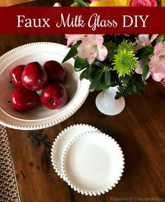Faux Milk Glass DIY.