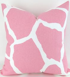 Baby Pink Pillows ANY SIZE Zoo animal nursery by DeliciousPillows