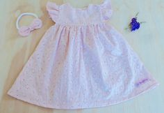 Blush Pink Broderie Anglaise Baby Doll Dress