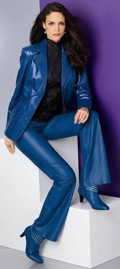 Leather Pant Suit Ladies