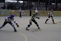 Old school roller hockey team from Brooklyn, New York - looks like the 1970s | From a great blog: http://avenuefhockey.blogspot.com | Hockey